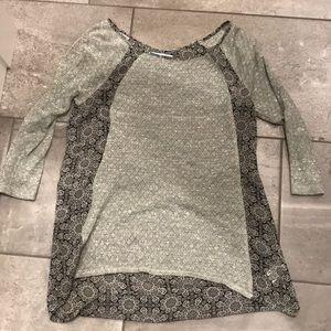 Grey 3/4 sleeve top